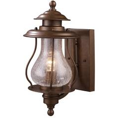 Outdoor Wall Light with Clear Glass in Coffee Bronze Finish