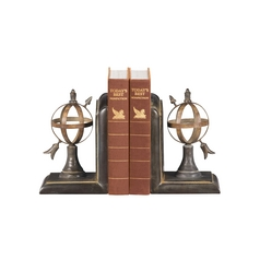 Arrow / Sphere Decorative Bookends