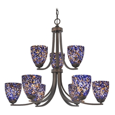 Modern Chandelier in Neuvelle Bronze Finish