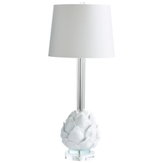 Cyan Design Chloe White Table Lamp with Empire Shade