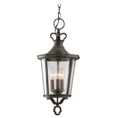 Outdoor Hanging Light with Clear Glass in English Bronze Finish
