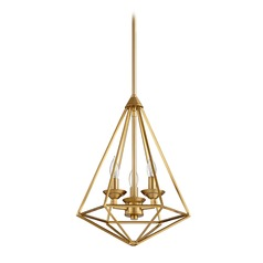 Quorum Lighting Bennett Aged Brass Pendant Light