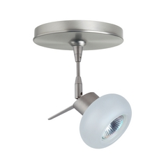 Modern Directional Spot Light with White Glass in Satin Nickel Finish