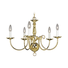 Progress Williamsburg Chandelier in Polished Brass Finish