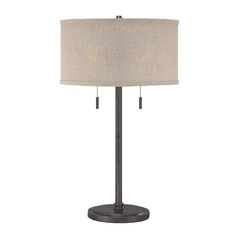 Modern Table Lamp in Mottled Cocoa Finish
