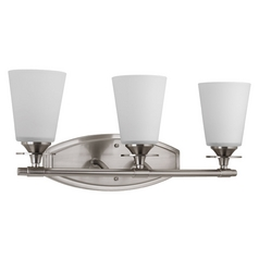 Progress Lighting Cantata Brushed Nickel Bathroom Light