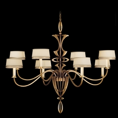 Fine Art Lamps Staccato Silver Leaf Chandelier