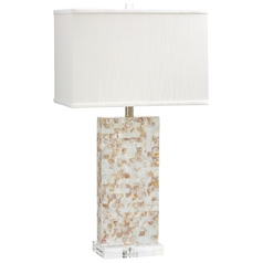 Cyan Design Palm Sands Mother of Pearl Table Lamp with Rectangle Shade