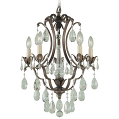 Feiss 5-Light Mini Chandelier in British Bronze