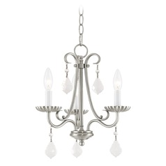 Livex Lighting Callisto Brushed Nickel Mini-Chandelier