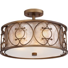 Quoizel Lighting Avondale Empire Brass Semi-Flushmount Light