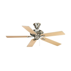 Progress Ceiling Fan Without Light in Brushed Nickel Finish