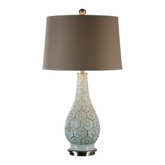 Uttermost Trula Aged Powdered Blue Lamp