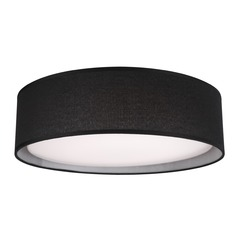 Modern White LED Flushmount Light with Black Shade 3000K 850LM
