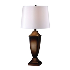 Kenroy Home Lighting Singer Mottled Bronze Table Lamp Set