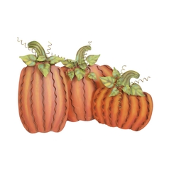 The Round Top Collection Pumpkin Decorations - Set of Three F3063