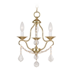 Livex Lighting Chesterfield Polished Brass Crystal Chandelier