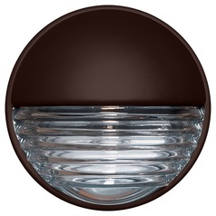 Ribbed Glass Outdoor Wall Light Bronze Costaluz by Besa Lighting