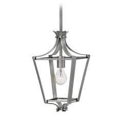 Hinkley Lighting Fleming Polished Antique Nickel Pendant Light