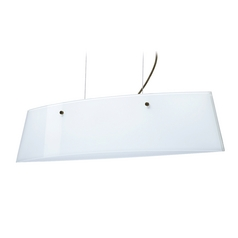 Modern Island Light White Glass Bronze by Besa Lighting