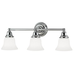 Craftsman Style 3-Light Bathroom Light Chrome