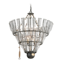 Troy Lighting 121 Main Old Silver with Brass Accents Pendant Light