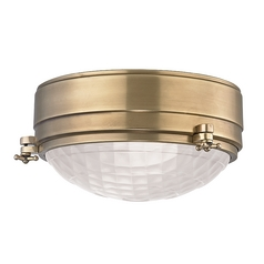 Hudson Valley Lighting Belmont Aged Brass Flushmount Light