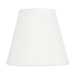 White Empire Lamp Shade with Clip-On Lamp Shade Assembly