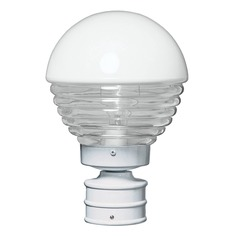 Ribbed Glass Post Light White Costaluz by Besa Lighting
