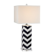 Dimond Lighting Navy, White Table Lamp with Square Shade