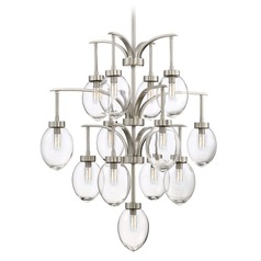 Savoy House Lighting Ravenia Satin Nickel Chandelier