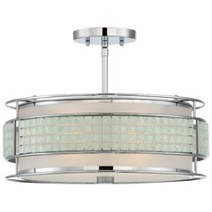 Quoizel Lighting Boundary Polished Chrome Semi-Flushmount Light