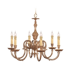 Crystal Chandelier in Olde Brass Finish