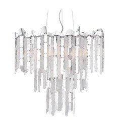 Crystal Pendant Light Polished Chrome Platinum Collection Daybreak by Quoizel Lighting