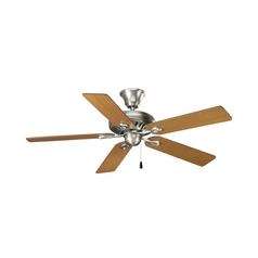 Progress Ceiling Fan Without Light in Antique Nickel Finish