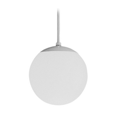 Progress Globe Mini-Pendant Light with White Glass - 8-Inches Wide