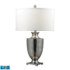 Dimond Lighting Antique Mercury Glass, Polished Chrome LED Table Lamp with Drum Shade