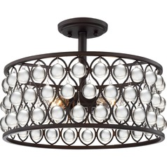 Quoizel Lighting Alexandria Palladian Bronze Semi-Flushmount Light