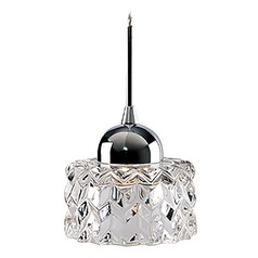Modern Chrome LED Mini-Pendant with Clear Shade 3000K 229LM