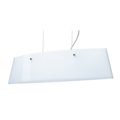 Modern Island Light White Glass Satin Nickel by Besa Lighting