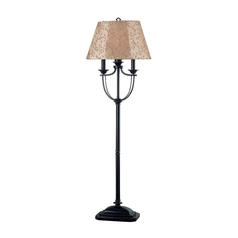 Floor Lamp with Taupe Shade in Bronze Finish
