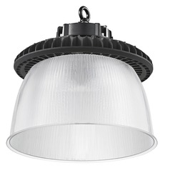 Prismatic Glass UFO LED High Bay Light Black 240-Watt 33990 Lumens 5000K 120 Degree Beam Spread
