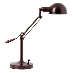Adjustable Pharmacy Task Desk Lamp in Bronze Finish