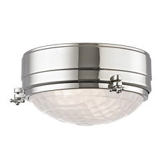 Nautical Flushmount Light Polished Nickel Belmont by Hudson Valley