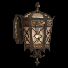 Fine Art Lamps Chateau Outdoor Umber Patina with Gold Accents Outdoor Wall Light