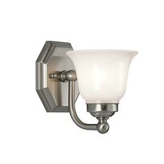 Norwell Lighting Trevi Brush Nickel Sconce