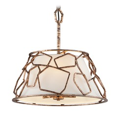 Troy Lighting Coda Antique Copper Leaf Pendant Light with Empire Shade