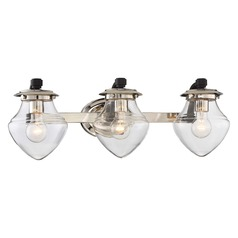 Minka Lavery the Cape Polished Nickel W/black Highlights Bathroom Light