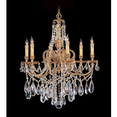 Crystorama Lighting Crystal Chandelier in Olde Brass Finish 2706-OB-CL-S