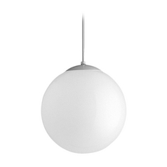 Mid-Century Modern Pendant Light White Opal Globes by Progress Lighting
